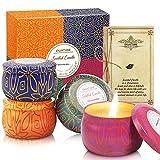 KWANITHINK Regalo de Velas Perfumadas 4 x 4.2 oz, Juego de Velas de Cera de Soja, Velas Aromáticas Regalos Mujer Originales