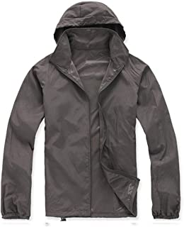 Lanbaosi Women's Super Lightweight Uv Protect+Quick Dry Waterproof Skin Jacket (Large, Dark Grey)