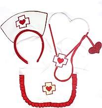OzStore Sexy Nurse Costume - 3 Piece Dress Up Set
