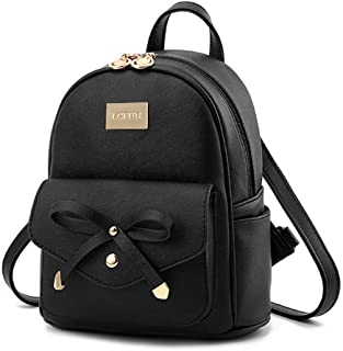 Wild Buddy Cute Mini PU Leather Backpack Fashion Small Day Bagpack Purse for Girls and Women