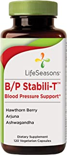 Life Seasons - B/P Stabili-T - Blood Pressure Supplement - Helps Prevent Plaque Build Up - Improves Cardiovascular Health and Blood Circulation - with Ashwagandha, Hawthorn Berry (120 Capsules)