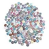 SUPVOX 200 stücke Multi Farbe Mosaik Gedruckt Glas Kristall Cabochons