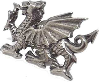 Cufflinks Direct Wales Welsh Celtic Pewter Rugby Dragon Stock Tie Lapel Pin Badge Brooch