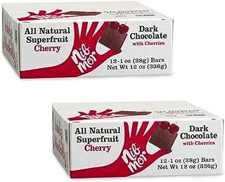 Nib Mor Dark Chocolate Bar with 52% Cacao - Tart Cherries, 1 Ounce Bar (Pack of 24)