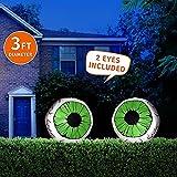 Joiedomi 2 Pack Huge Halloween 3 FT Inflatable LED Light Up Eyeball for Halloween Party Indoor, Outdoor, Garden, Lawn, Yard Decoration (3 ft Diameter)