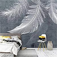 3D壁紙ポスター白い羽カスタム大規模な壁紙の壁紙3Dテレビの背景リビングルームの写真の壁紙3Dルームの壁紙-350X250cm