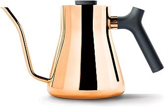 Fellow Stagg Kookplaat Pour-Over Koffie en Thee Waterkoker - Zwanenhals Theepot met precisie Giettuit, Ingebouwde Brew Ran...