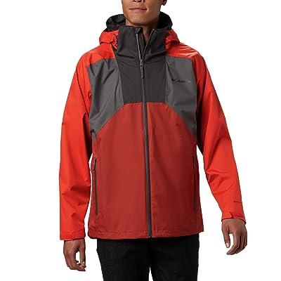 Columbia Rain Scapetm Jacket (City Grey/Wildfire/Carnelian Red/Shark/Shark Zips) Men