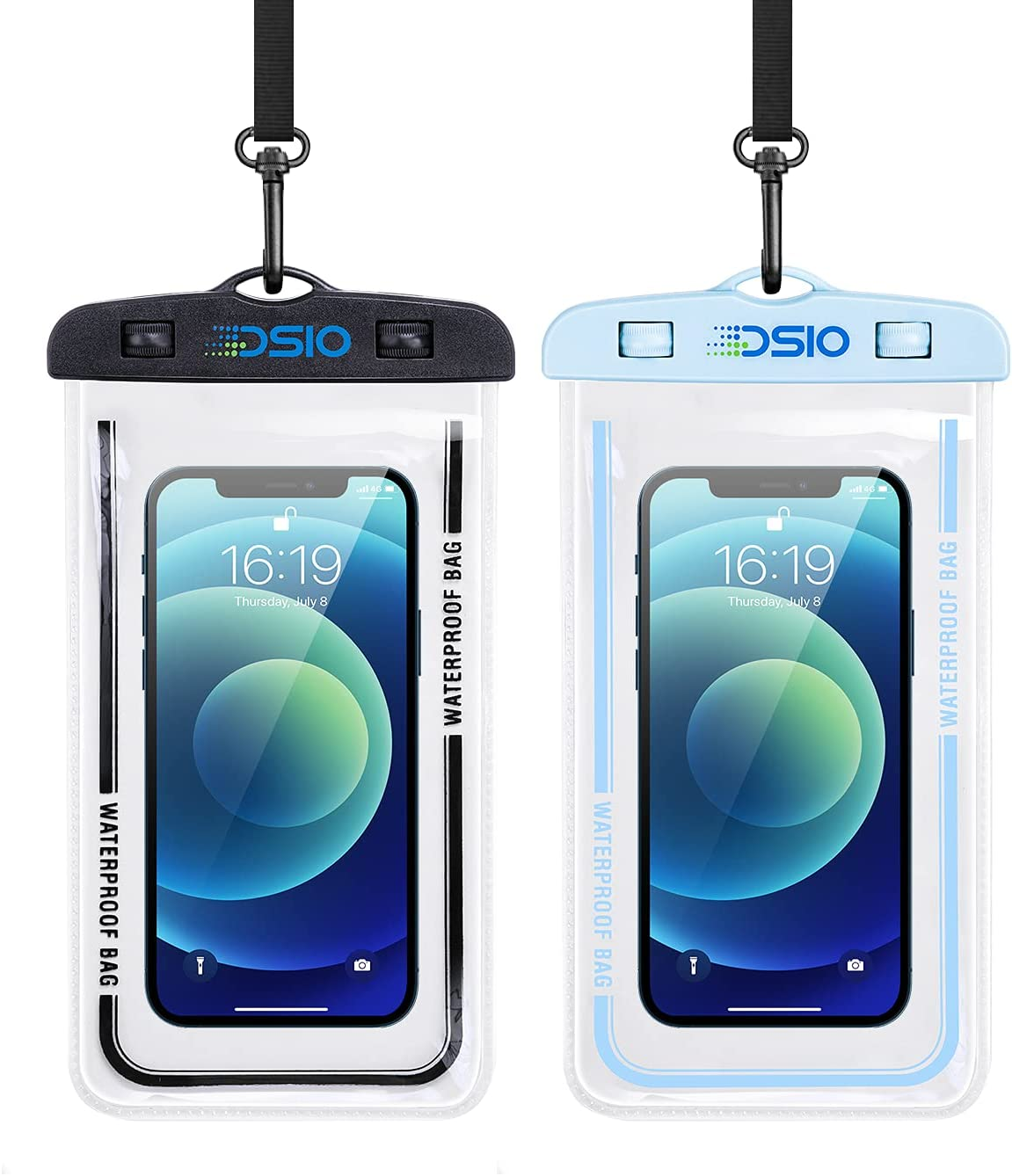 Waterproof Phone Case,2PCS IPX8 Waterproof Phone Pouch with Lanyard Compatible for iPhone 12 Pro 11 Pro Samsung Galaxy s10/s9,Pixel 4 XL up to 7