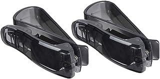 Mintice trade; 2 X KFZ Auto Brillenhalter Sonnenbrillenhalterung LKW Sonnenblende Brillenablage Halter Clip Sonne schwarz PKW