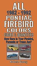 All 1982-1992 Pontiac Firebird Colors, Codes & Quantities: How Rare is Your Firebird, Formula, or Trans Am?