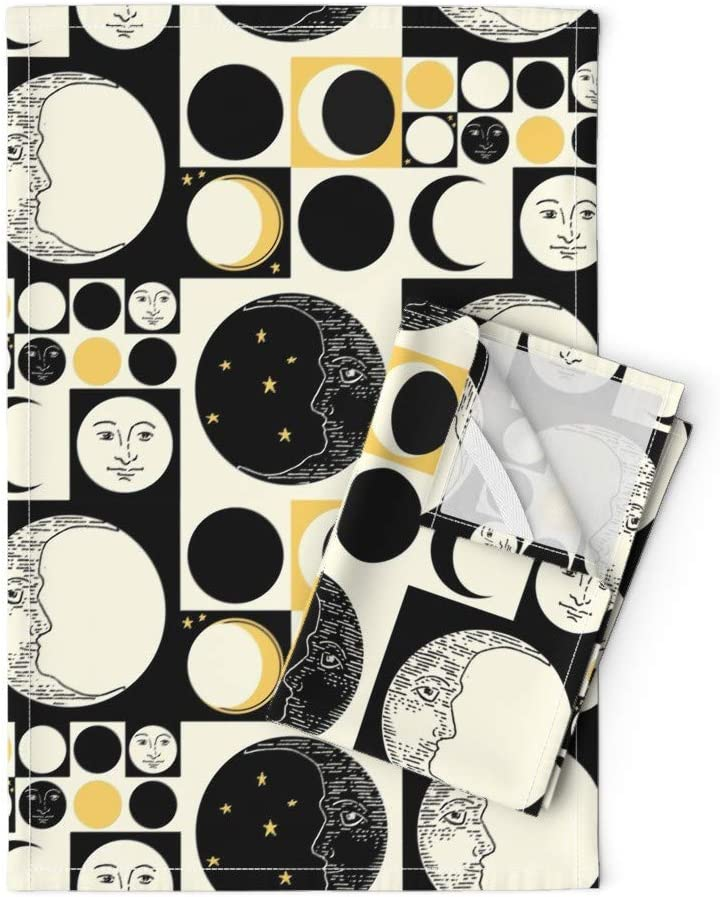 Roostery Man in The Max 71% OFF supreme Moon Tea Phases Towels Art Op Geometric Mod