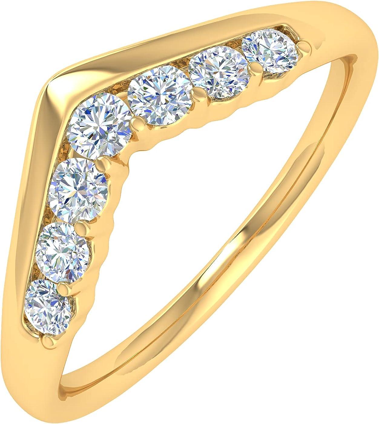 1/4 Carat Diamond Wedding Anniversary Ring in 14K Gold