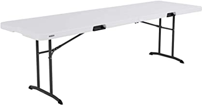 Lifetime 80733 Fold in Half Banquet Table, 8-Foot, White Granite