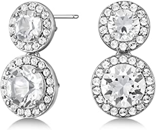 Mestige Womens Stainless Steel Alexa Earrings with Swarovski Crystals - MSER3916, Color Silver