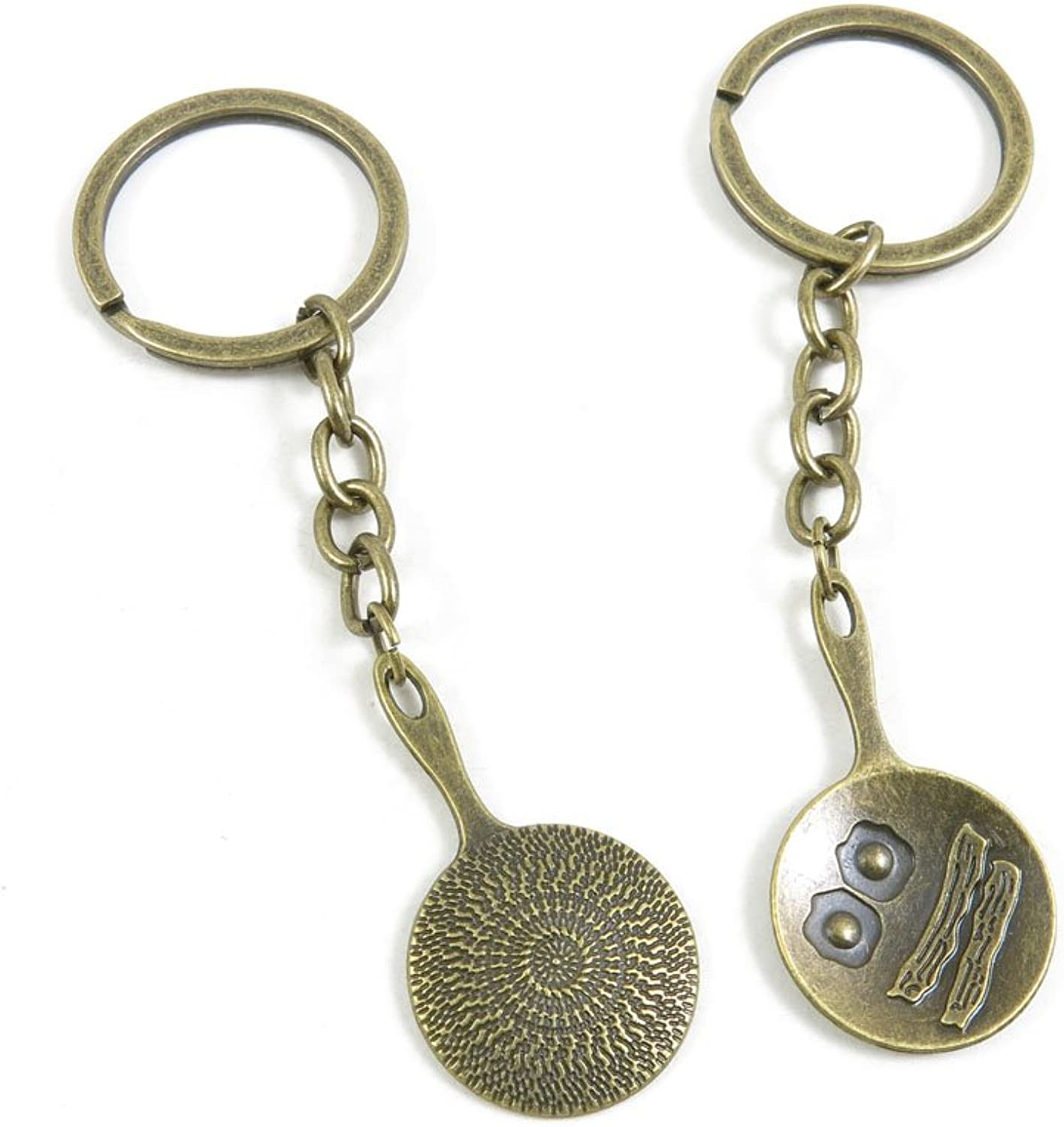 160 Pieces Fashion Jewelry Keyring Keychain Door Car Key Tag Ring Chain Supplier Supply Wholesale Bulk Lots C5RJ2 Omelette Pan Pot