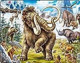 Larsen FH27 Mamuts Siendo cazados en Tiempos prehistóricos, Puzzle de Marco con 64 Piezas