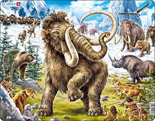 Larsen FH27 Mammut cacciati in Epoca preistorica, Puzzle Incorniciato con 64 Pezzi