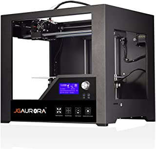 JGAURORA 3D Printer Desktop FDM 3D Printers Metal Frame Professional High Resolution Stable Working 3D Printing Machine,Printing Size 280x180x180mm LCD Display Industry and Education Use, Black