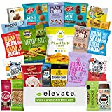 Healthy GLUTEN FREE and VEGAN Premium Snacks Care Package [22 Count] The Cleanest Ingredients In A Snack Box, Plant Based Mix Of: Cookies, Nuts, Fruit, Chips, Gift Basket Alternative For Adults, Kids