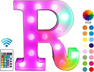 Colorful LED Marquee Letter Lights with Remote – Light Up Marquee Signs – Party Bar Letters with Lights Decorations for Th...