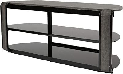 Amazon Com Furniturer 52 Inch Tv Stand With Tempered Glass Non Tool