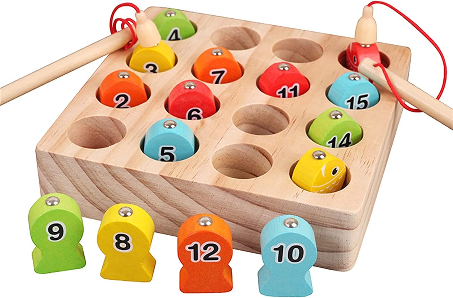 HTDZDX Baby Educational Toys Digit Fishing Fish Super beauty Seattle Mall product restock quality top Wooden Magnetic