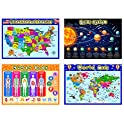 4-Pieces Outus Fully Laminated Preschool Educational Posters