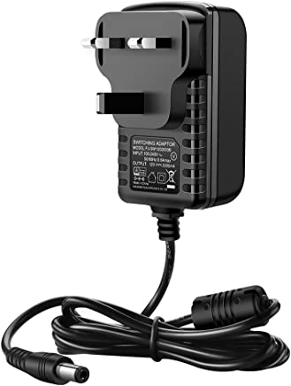 UGREEN DC Power Supply 12V 2A, AC 100-240V to DC 12V Power Cable Portable Wall Charger UK Plug with 1.5m Cable,5.5mm x 2.1mm Jack for Led Strips, CCTV Camera, Cisco Router, Yamaha Keyboard,CE Approved
