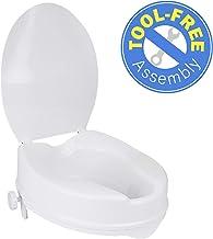 "Vaunn Medical Clamp-On 4"" Height Raised Toilet Seat Riser for Standard Size Round.."