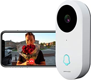 DophiGo 960P Wi-Fi Enabled Smart Video Camera Wireless Doorbell Button Chime (1 Base)