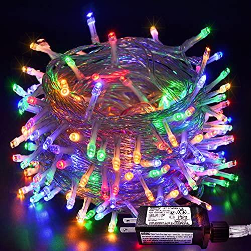 JMEXSUSS Multicolor String Lights 66ft 200 LED Indoor...