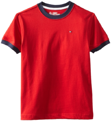 Tommy Hilfiger Big Boys' Core Crew Neck Ken Tee, Regal Red,...