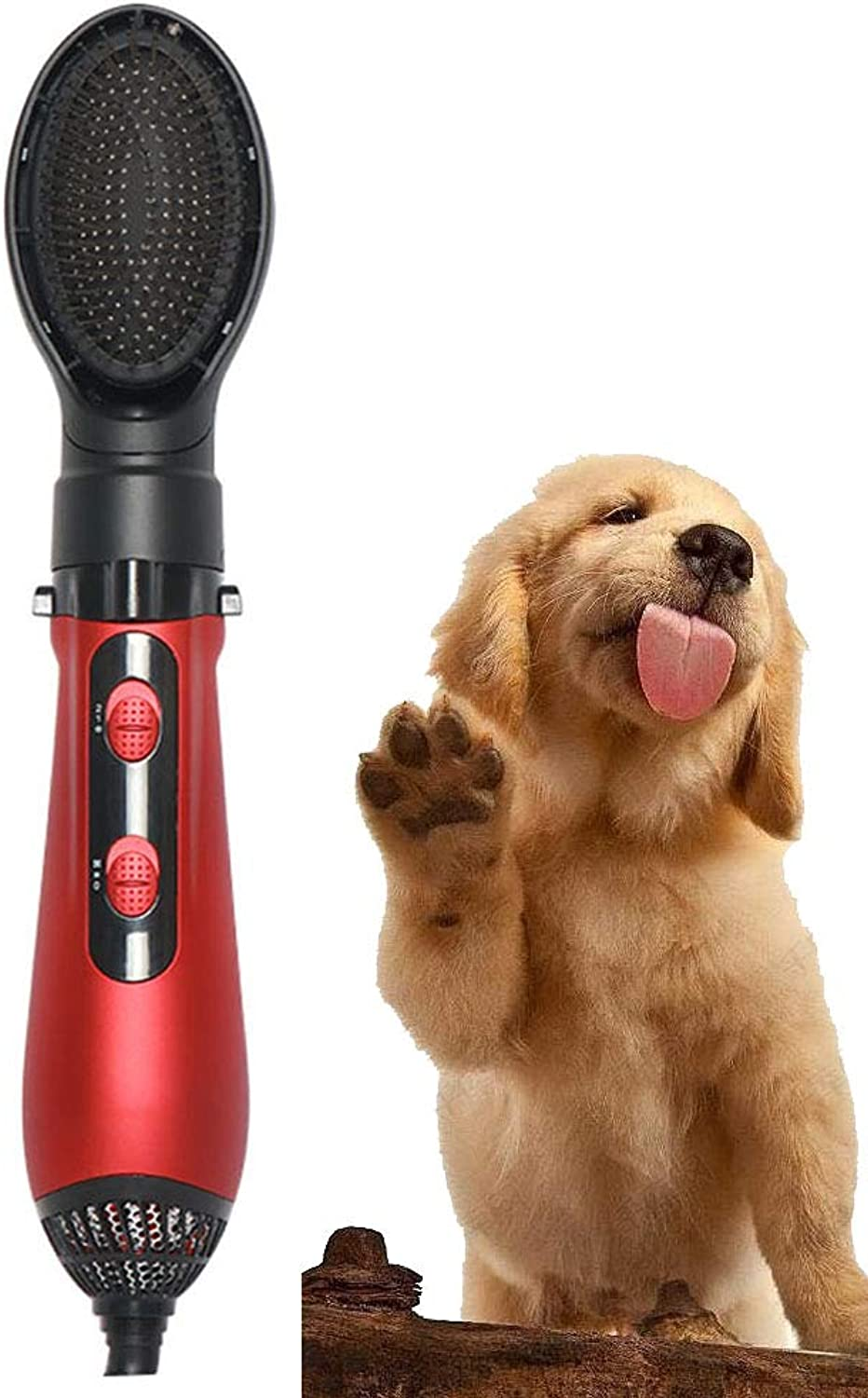 MAL Water Blower, Dog Blowing Artifact Cat Dryer Pulling Dog Pet Hair Dryer (color   RED)