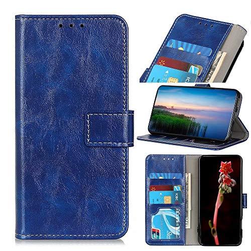 Ufgoszvp Xiaomi Mi 11 Funda, Funda de Teléfono Para Xiaomi Mi 11, Xiaomi Mi 11 Funda del Teléfono, Funda Magnética Flip Folio a prueba de golpes Funda Cartera para Xiaomi Mi 11 Casos con Soporte Azul