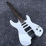 YYYSHOPP Guitars & Gear Guitarra eléctrica sin cabeza Diapasón de palisandro negro Hardware Acústico Cuerdas Guitarras clásicas Guitarras (Color: Guitarra, Tamaño: 39 pulgadas)
