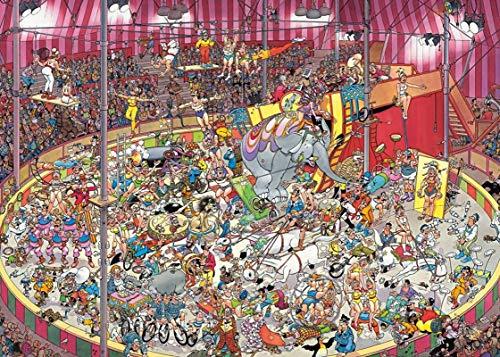 Wsjdmm Animación Puzzles, Rompecabezas de Madera Piezas 300/500/1000, Circo Creativas Adulto Regalo de la descompresión Rompecabezas de Dibujos Animados Juguetes educativos for niños