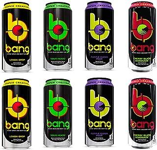 VPX Bang Variety - Sour Heads, Purple Guava Pear, Cherry Blade Lemonade, Lemon Drop - 16fl.oz. (Pack of 8)