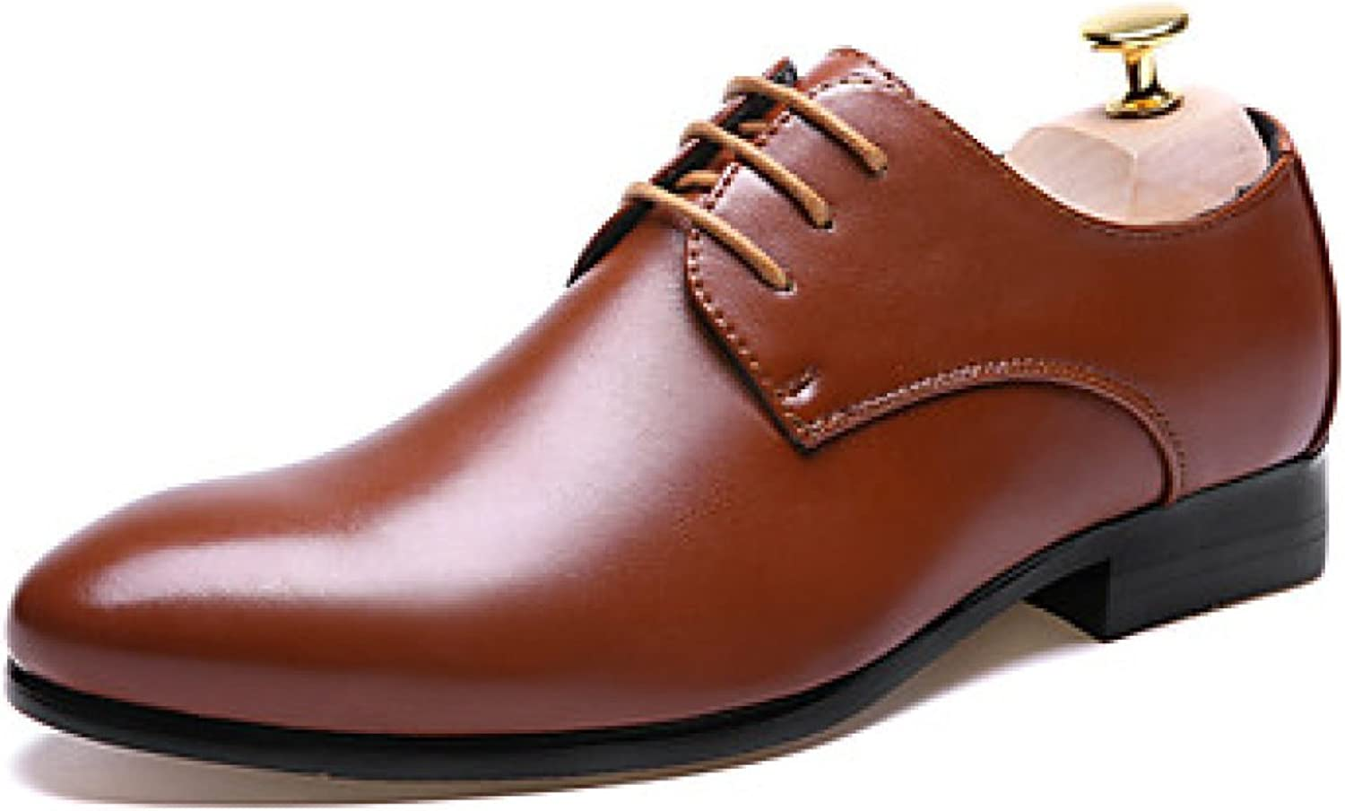 Men's Oxfords Spring Summer Formal shoes Leather Wedding Office Career Casual Party Evening Flat Heel Lace-up Black Brown