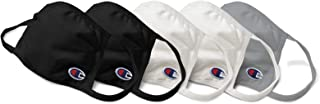 Champion Cotton Mask Pack of 5, 2 black, 2 white, 1 concrete, One