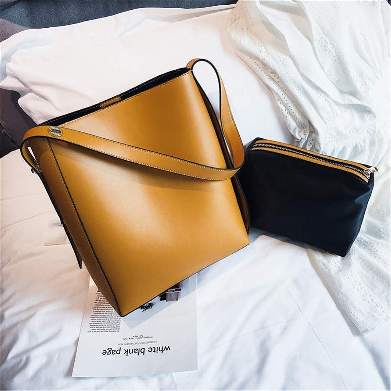 Lidoudou Tasche weiblich wild große Kapazität einfache einfache einfache Schulter Messenger-Bag Größe (Höhe 24 cm, Breite 30 cm) Material PU B07P58FYGP  Haltbarer Service d2df28