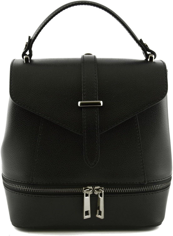 Damen Tasche Aus Echtem Echtem Echtem Leder Farbe Schwarz - Italienische Lederwaren - Damentasche B01MR8CY45 a0c4d5