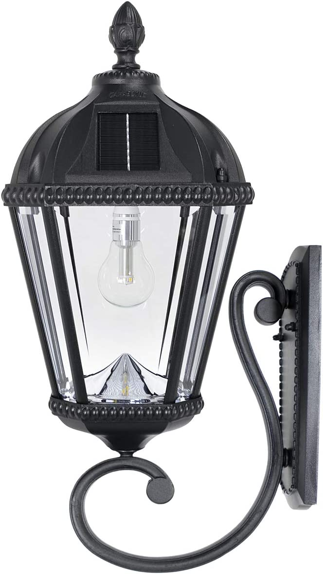 Gama Sonic GS-98B-W-BLK Royal Bulb Lamp Price reduction Outdoor Solar Fixt Light Manufacturer direct delivery