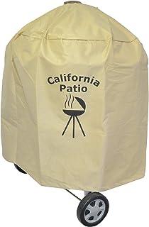 California Patio (カリフォルニアパティオ) プレミアムケトルグリルカバー, ヘビーデューティ防水カバー,UVカットとフェード耐性材料, 耐久性と便利性,47 - 57cm ケトルグリル対応,Weberグリル対応,ウェーバーグリル対応