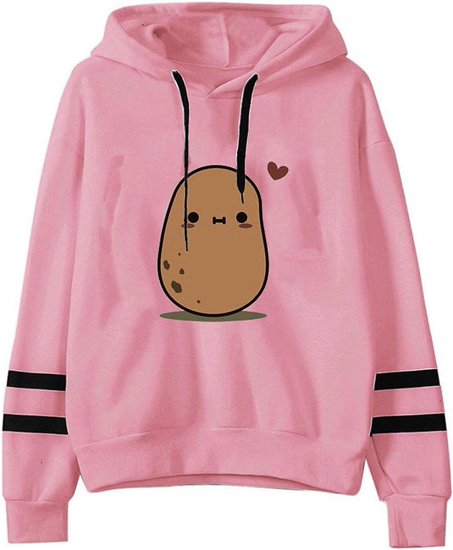 Jaqqra Sweatshirts for Women Crewneck, Women's Casual Long Sleeve Cute Hoodie Pullover Tops Shirts Blouse for Teen Girls