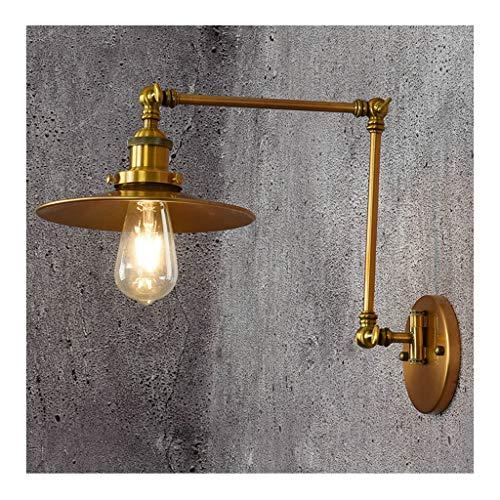 W. Retro lámpara de pared estilo americano estilo loft dormitorio junto a la cama tienda de ropa...