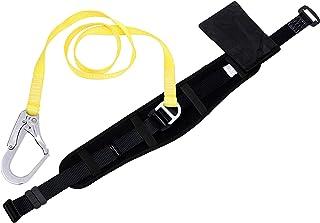 安全帯 一般高所作業用安全帯 一本吊り専用 胴ベルト型安全帯 ランヤード ロープ フック付き 工具袋付属 [落下防止 電気工事 高所での安全作業]