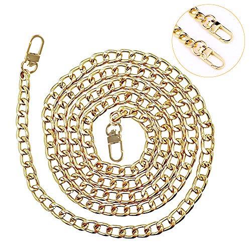 Tasche Kette, Metall Schultergurt für Taschen Taschenhenkel Riemen für Taschen Taschenkette Gold, Damen Handtaschen Kette Schulterriemen für Taschen Umhängetasche Crossbody Geldbörse Tragegurt Chain
