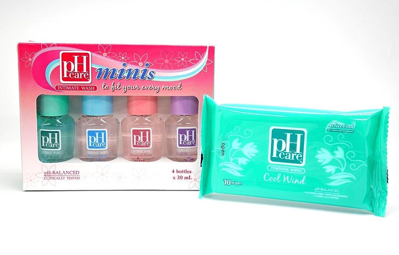影響フラスコ影(ピーエイチケア)pHcare フェミニンウォッシュ (ミニボトル4本 + シート(クールウィンド))