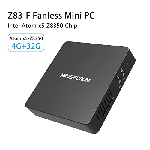 Z83-F Mini PC【Preinstalado con Windows 10】 Computadora de Escritorio Intel Atom